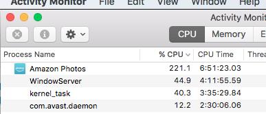 Amazon Photos really monopolizing Mac CPU